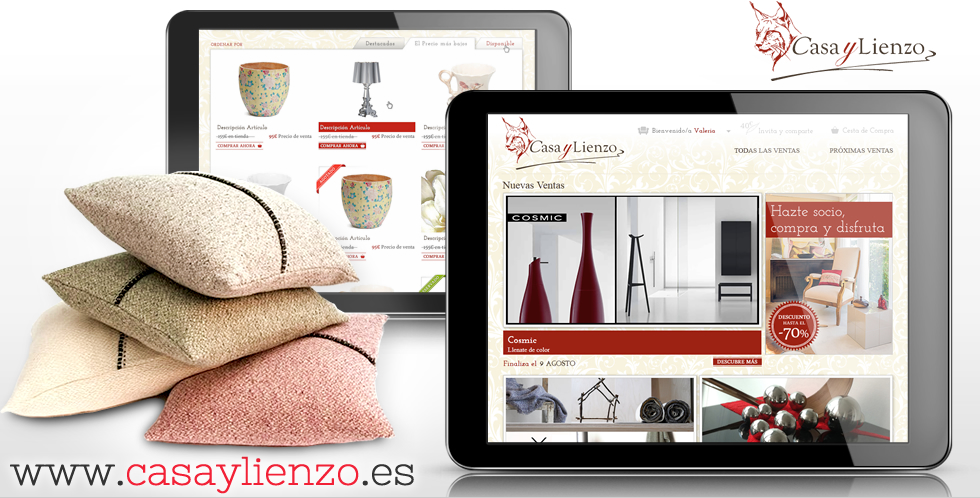 Web de ventas privadas decoración en Prestashop Madrid Barcelona