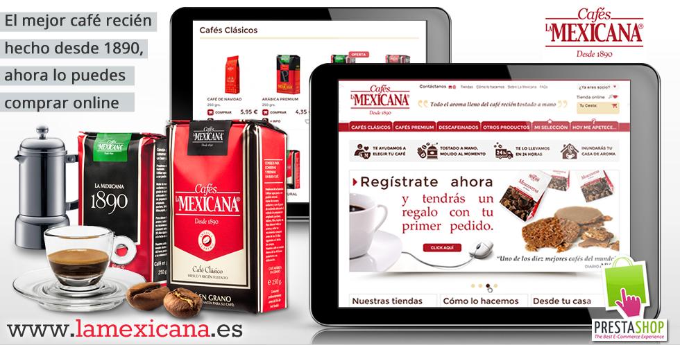 Cafés La Mexicana: nueva tienda online en Prestashop
