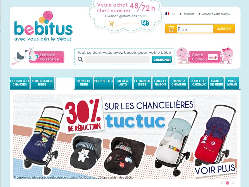 Tienda Prestashop Bebitus Francia