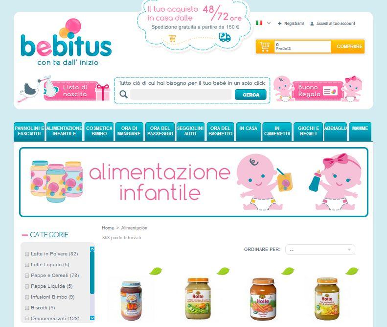 Tienda Prestashop Bebitus Italia