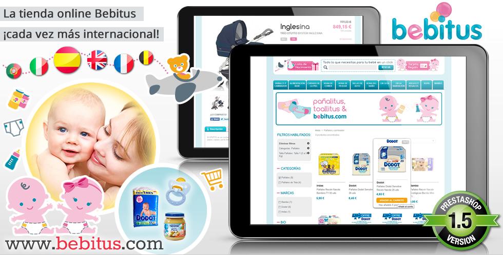 La tienda online para bebés Bebitus, cada ver más internacional
