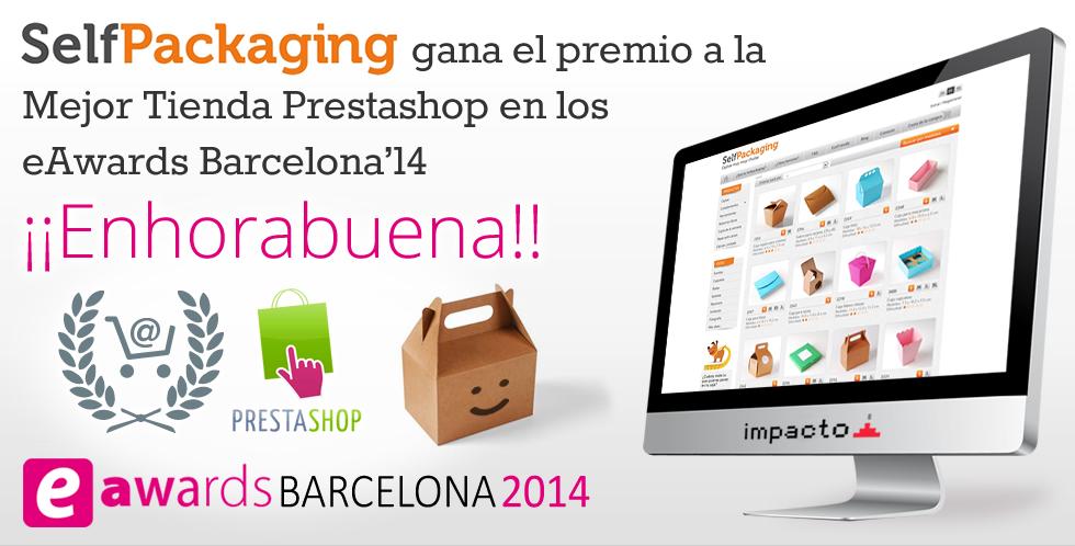 Selfackaging: Premio a la mejor tienda Prestashop en los eAwards Barcelona