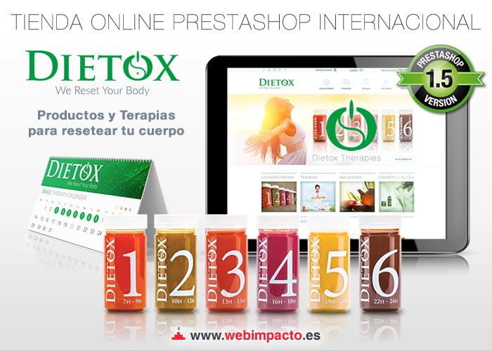 Lanzamiento de la nueva Tienda Prestashop Dietox