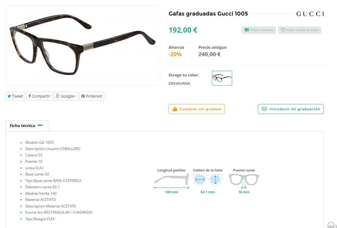 ficha tecnica gafas Eyeclic