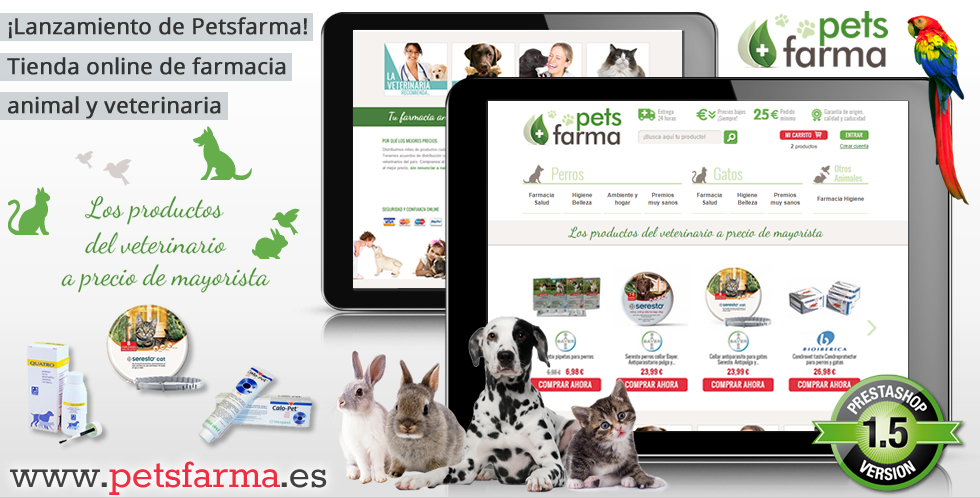 Petsfarma: Tienda online de veterinaria y farmacia animal