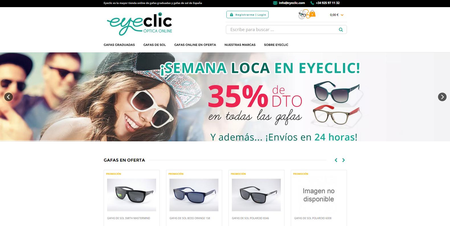 Eyeclic: tienda online de gafas de sol y graduadas