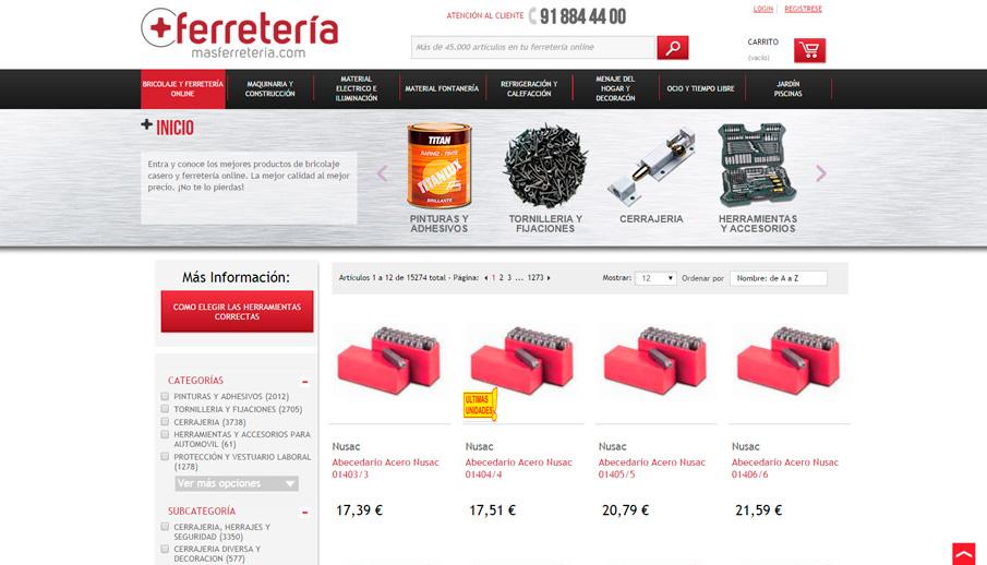 Bricolaje y ferretería online en Masferreteria