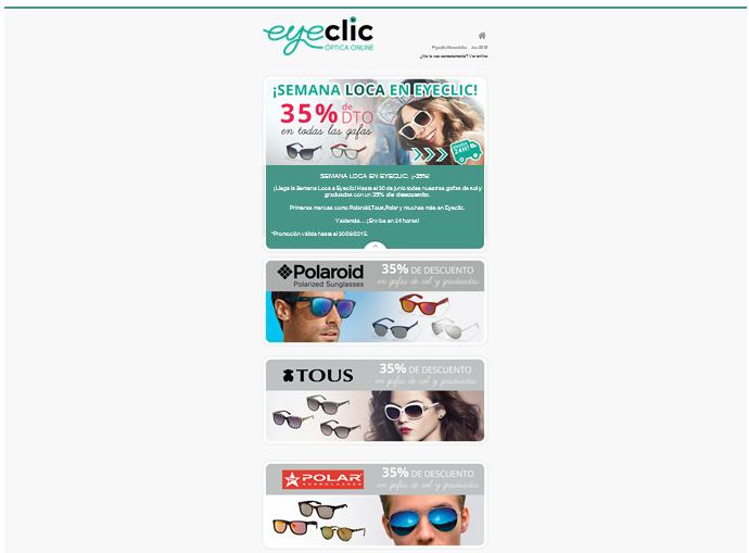 newsletter eyeclic: gafas de sol en oferta