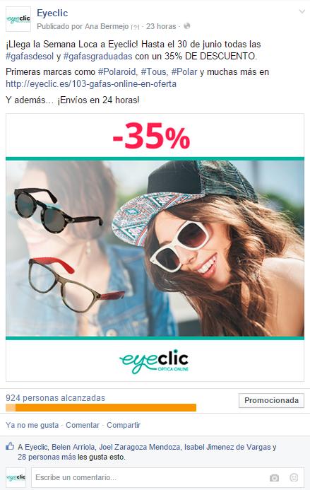 Eyeclic: Gafas online en Oferta