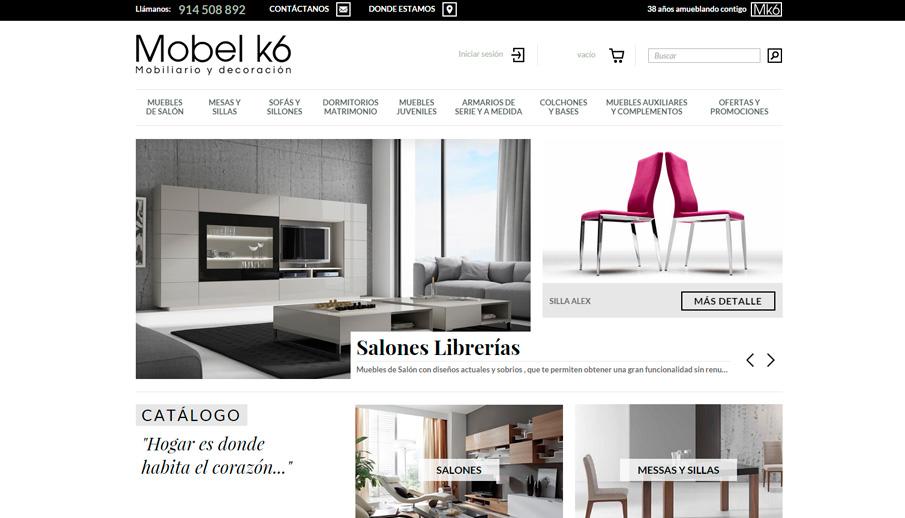 la nueva web de la tienda online muebles mobel k6
