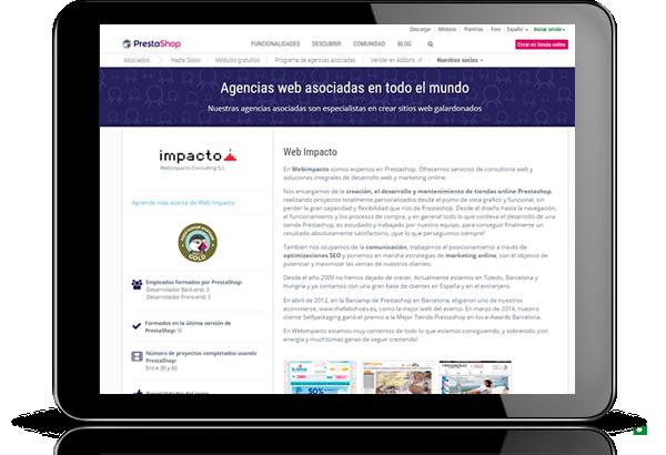 Webimpacto Partner PrestaShop Gold