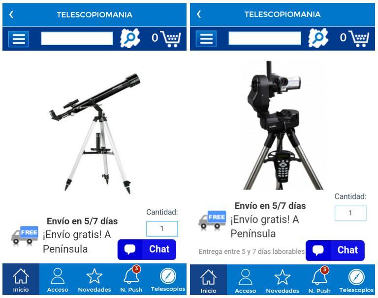 app telescopiomania