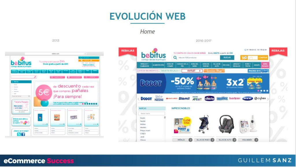 Evolución de la web de Bebitus con mejoras